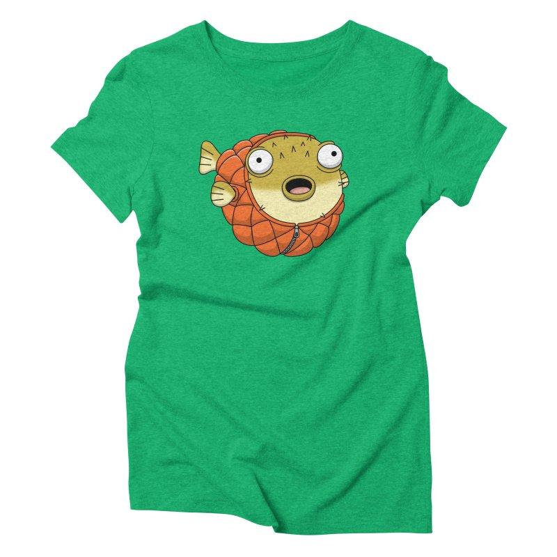 Puffer Fish Women's Triblend T-Shirt by Pig's Ear Gear on Threadless