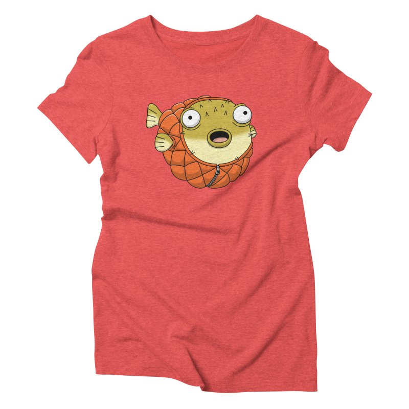 Puffer Fish Women's Triblend T-Shirt by Pig's Ear Gear on Threadless
