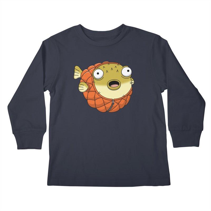 Puffer Fish Kids Longsleeve T-Shirt by Pig's Ear Gear on Threadless