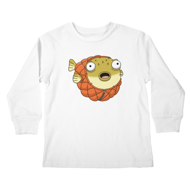 Puffer Fish Kids Longsleeve T-Shirt by Pig's Ear Gear on Threadless