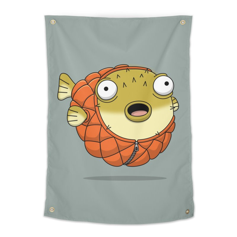 Puffer Fish Home Tapestry by Pig's Ear Gear on Threadless