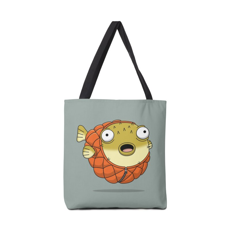 Puffer Fish Accessories Tote Bag Bag by Pig's Ear Gear on Threadless