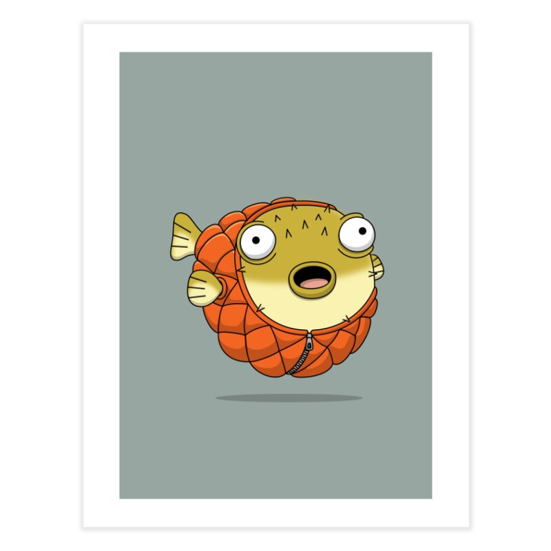 Puffer Fish Home Fine Art Print by Pig's Ear Gear on Threadless