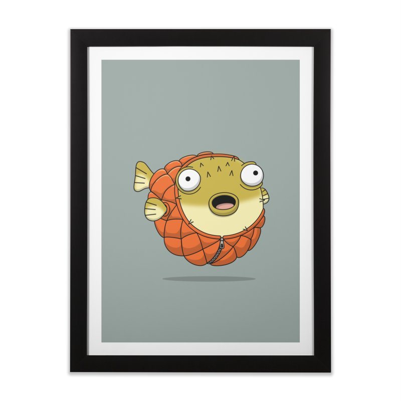 Puffer Fish Home Framed Fine Art Print by Pig's Ear Gear on Threadless