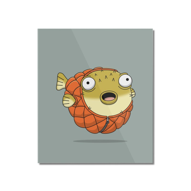 Puffer Fish Home Mounted Acrylic Print by Pig's Ear Gear on Threadless