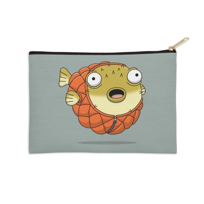 Puffer Fish Accessories Zip Pouch by Pig's Ear Gear on Threadless