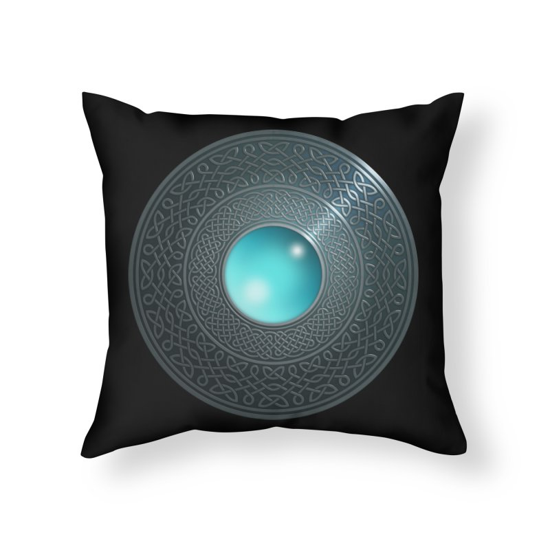 Shield Home Throw Pillow by Pig's Ear Gear on Threadless