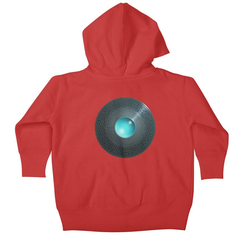 Shield Kids Baby Zip-Up Hoody by Pig's Ear Gear on Threadless