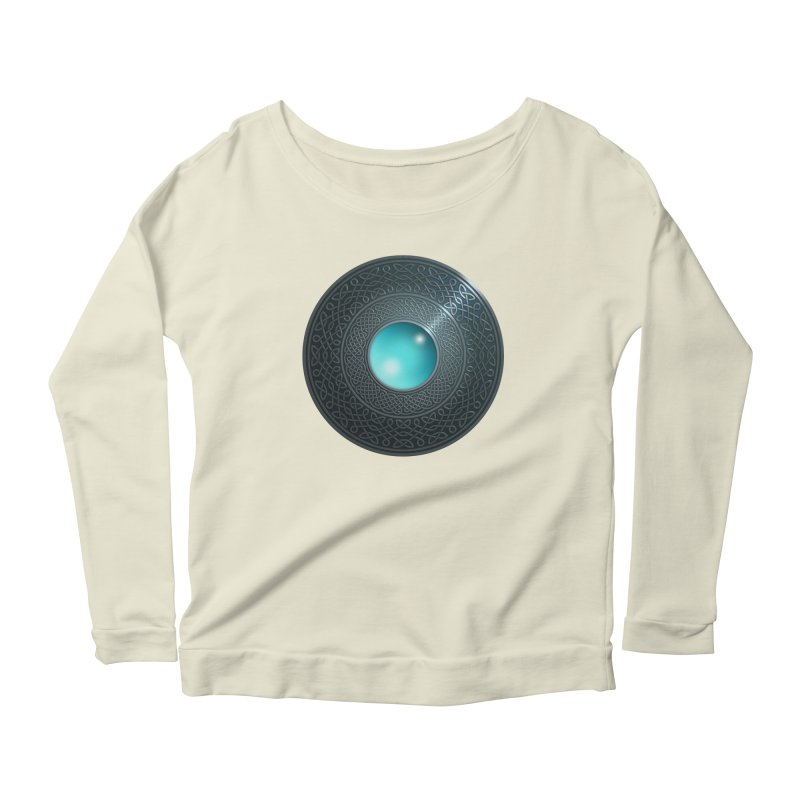Shield Women's Scoop Neck Longsleeve T-Shirt by Pig's Ear Gear on Threadless
