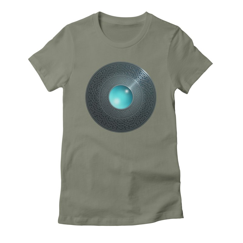 Shield Women's Fitted T-Shirt by Pig's Ear Gear on Threadless