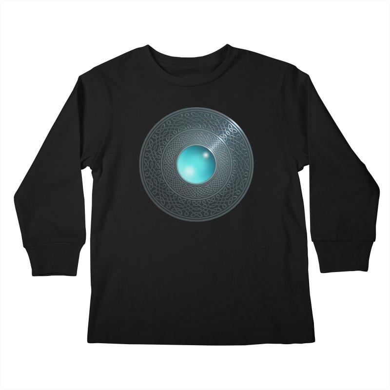 Shield Kids Longsleeve T-Shirt by Pig's Ear Gear on Threadless