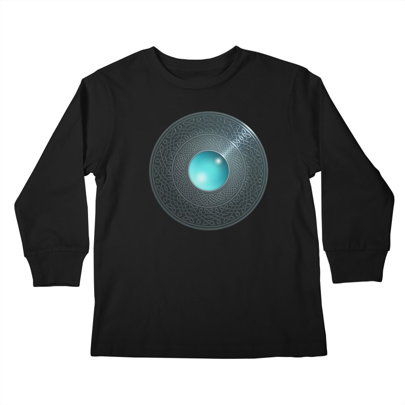 Shield Kids Longsleeve T-Shirt by Pig's Ear Gear on Threadless