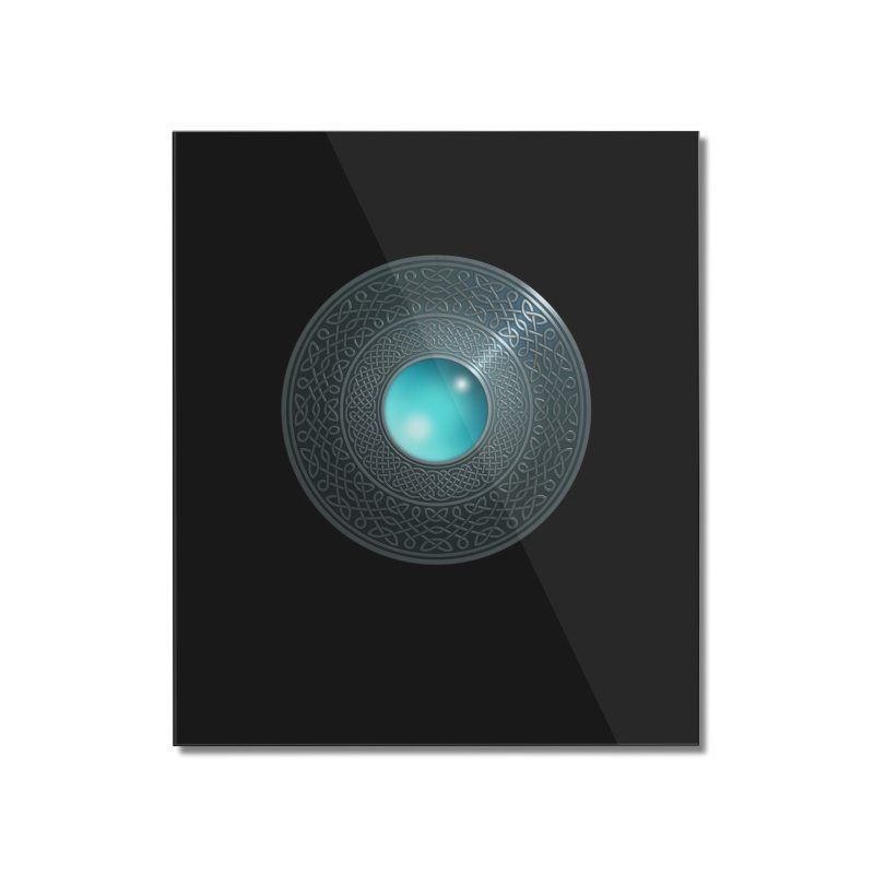 Shield Home Mounted Acrylic Print by Pig's Ear Gear on Threadless