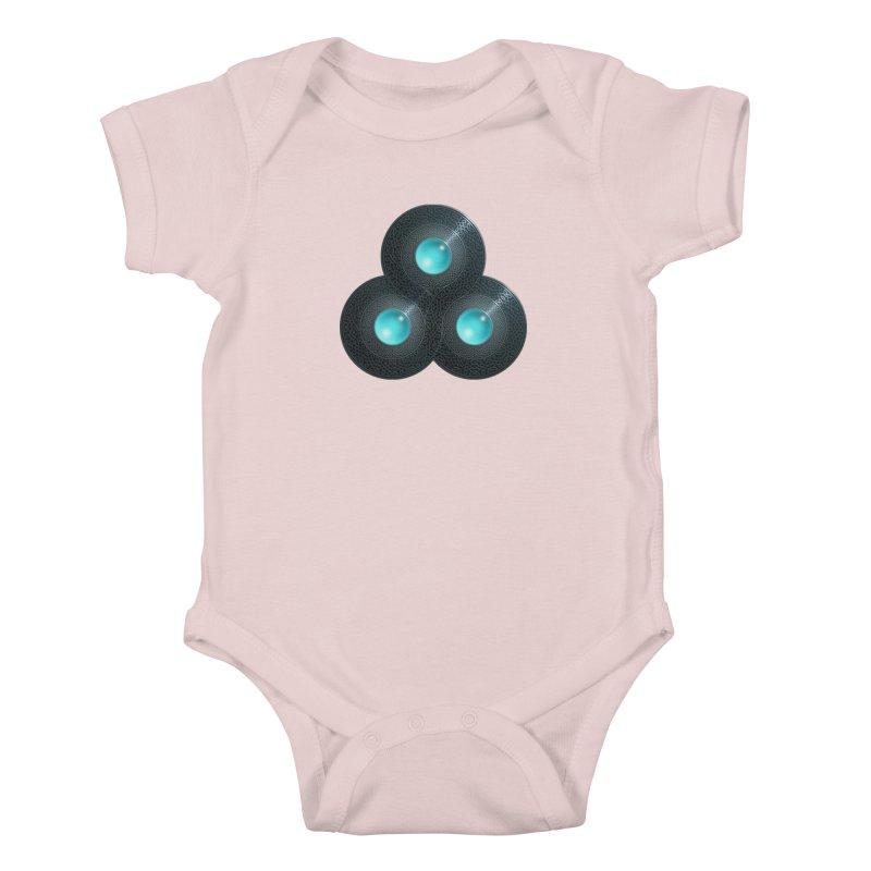Triple Celt Kids Baby Bodysuit by Pig's Ear Gear on Threadless