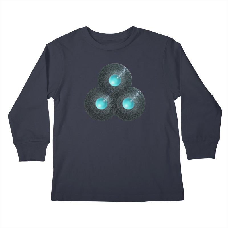 Triple Celt Kids Longsleeve T-Shirt by Pig's Ear Gear on Threadless