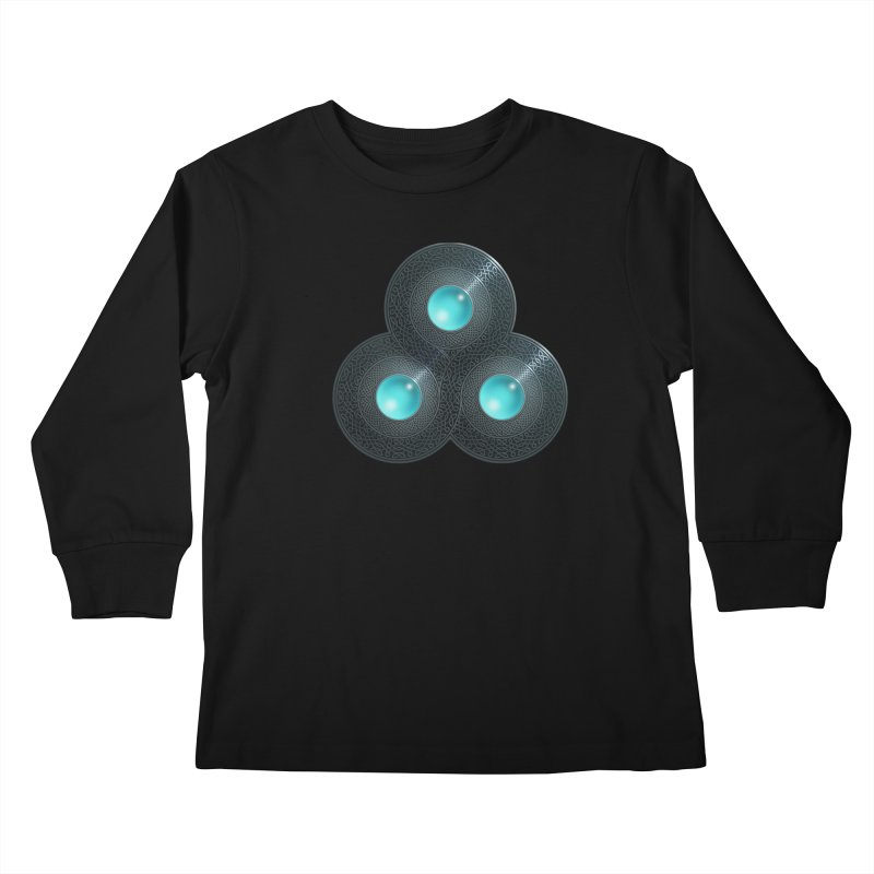 Triple Celt Kids Longsleeve T-Shirt by Pig's Ear Gear on Threadless