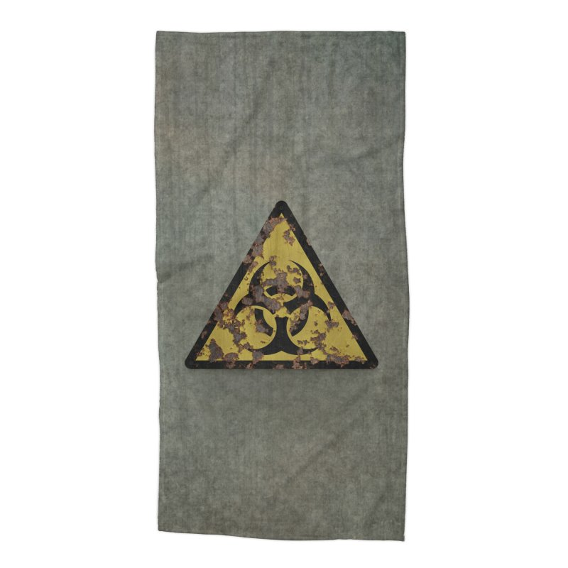 Biohazard Accessories Beach Towel by Pig's Ear Gear on Threadless