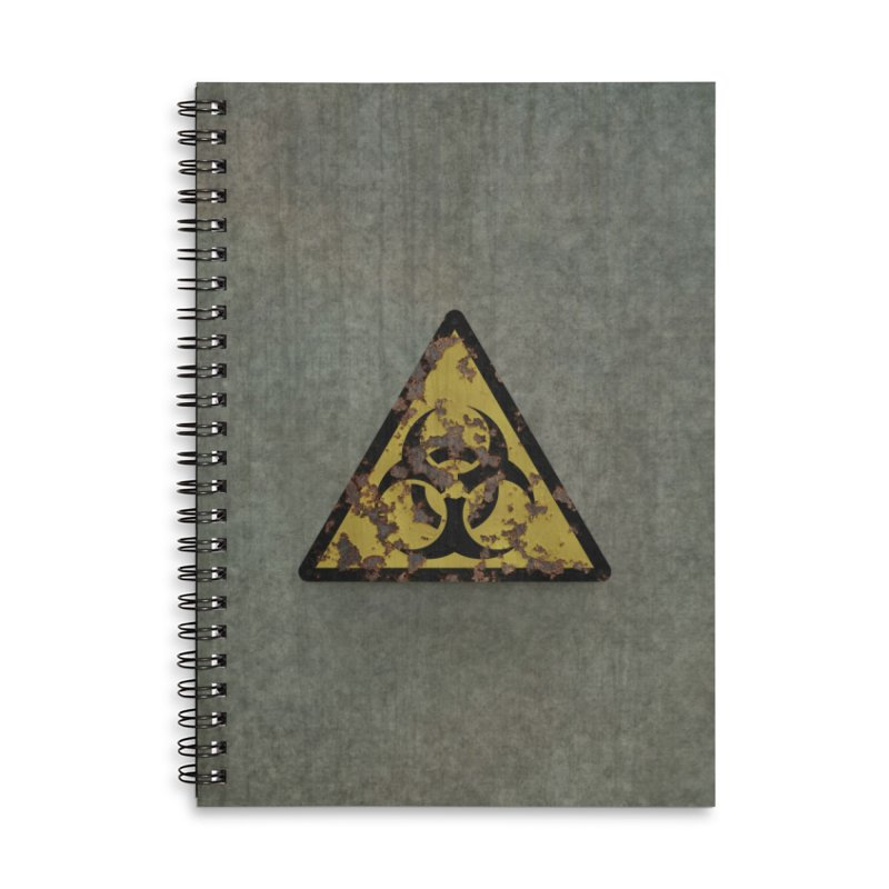 Biohazard Accessories Lined Spiral Notebook by Pig's Ear Gear on Threadless