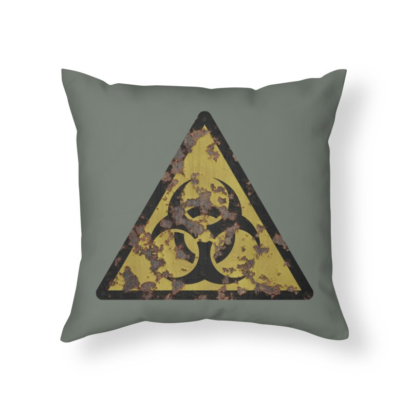 Biohazard Home Throw Pillow by Pig's Ear Gear on Threadless