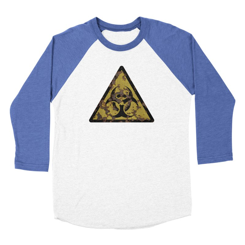 Biohazard Women's Baseball Triblend Longsleeve T-Shirt by Pig's Ear Gear on Threadless