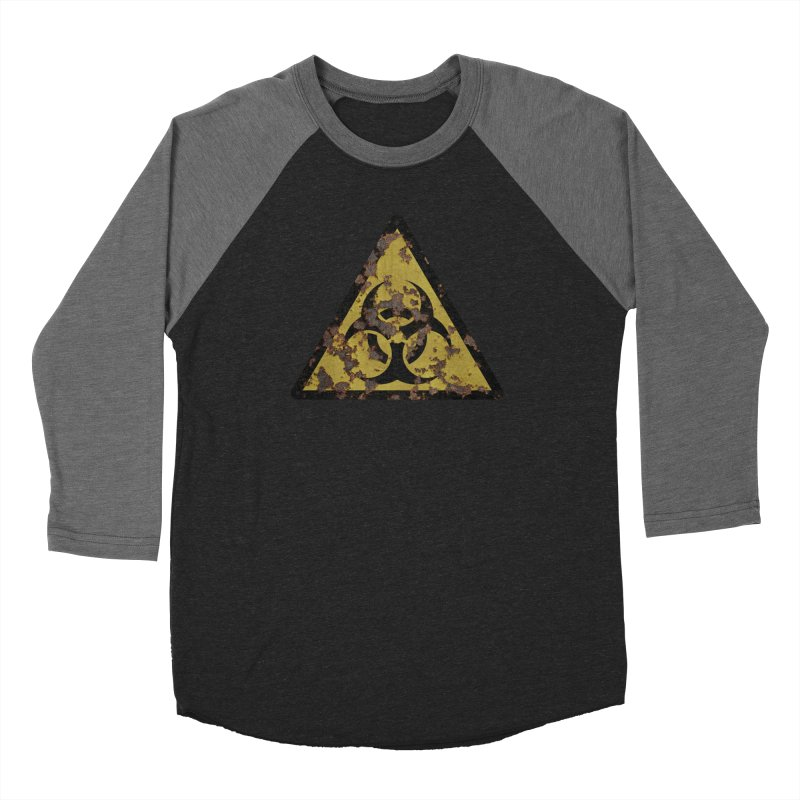 Biohazard Men's Baseball Triblend Longsleeve T-Shirt by Pig's Ear Gear on Threadless