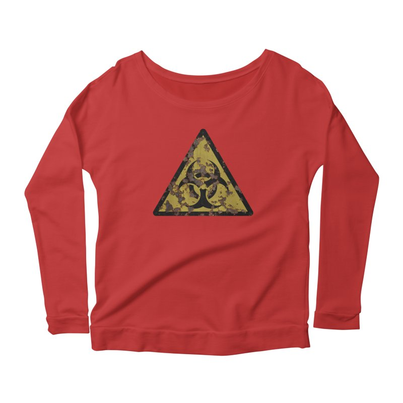 Biohazard Women's Scoop Neck Longsleeve T-Shirt by Pig's Ear Gear on Threadless