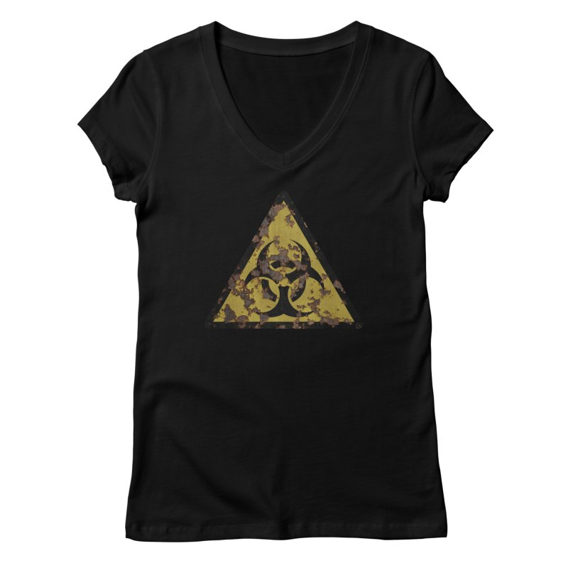 Biohazard Women's V-Neck by Pig's Ear Gear on Threadless