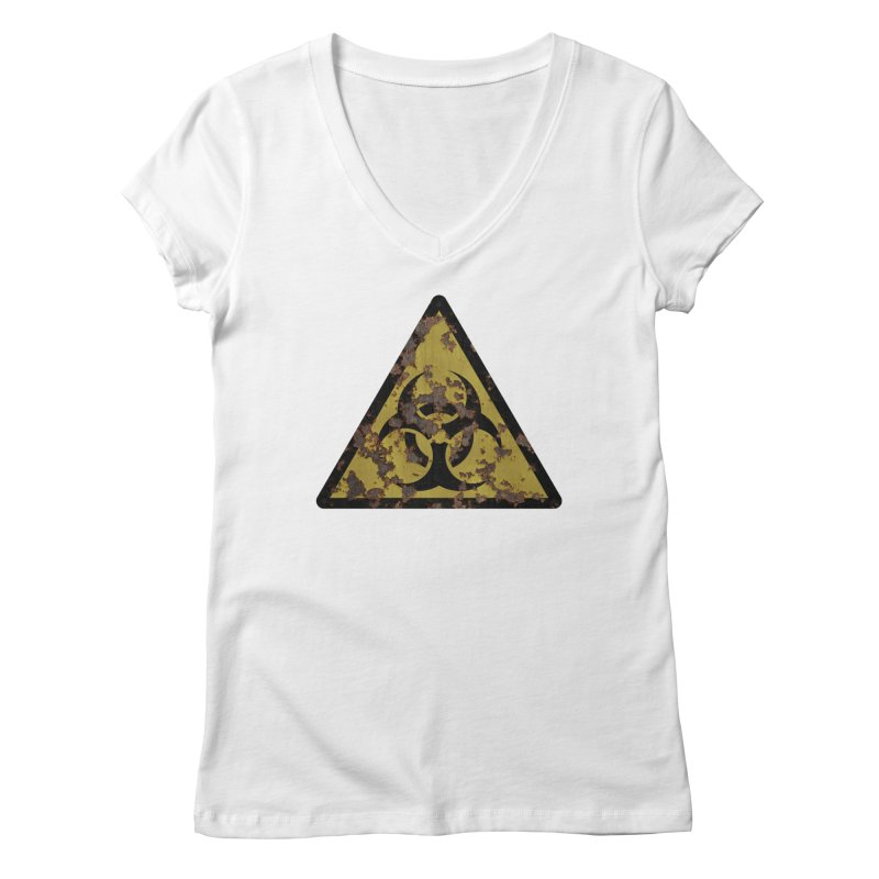 Biohazard Women's Regular V-Neck by Pig's Ear Gear on Threadless