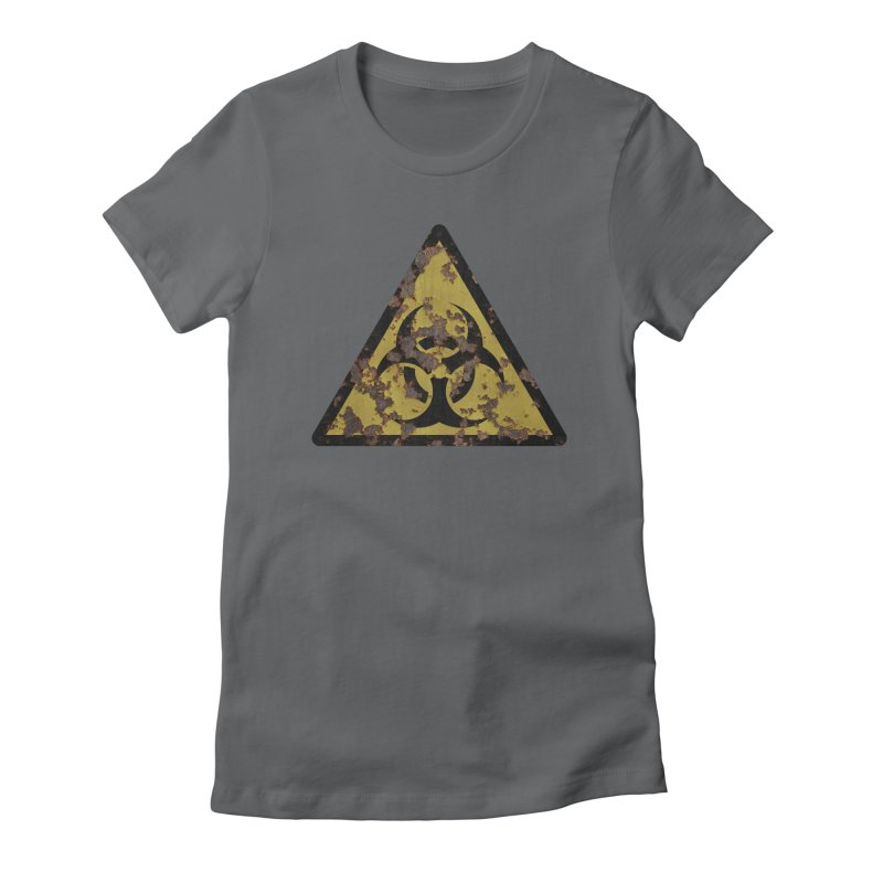 Biohazard Women's Fitted T-Shirt by Pig's Ear Gear on Threadless