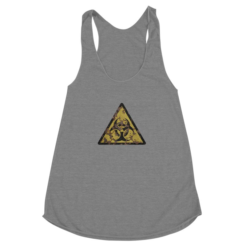 Biohazard Women's Racerback Triblend Tank by Pig's Ear Gear on Threadless