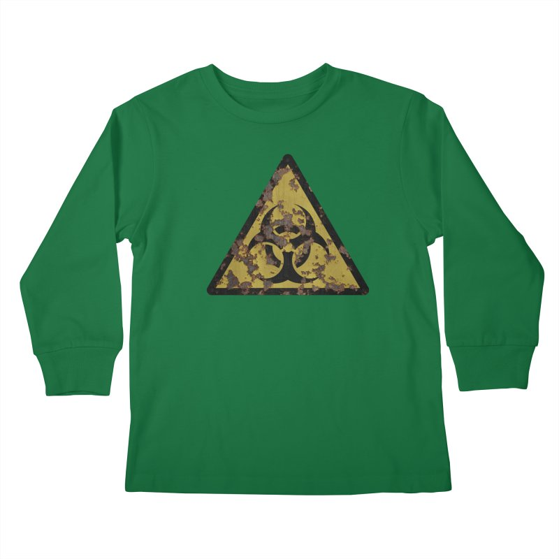 Biohazard Kids Longsleeve T-Shirt by Pig's Ear Gear on Threadless