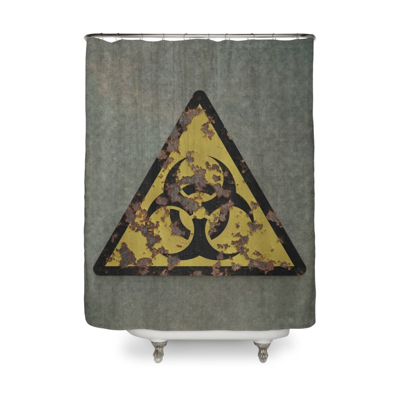 Biohazard Home Shower Curtain by Pig's Ear Gear on Threadless