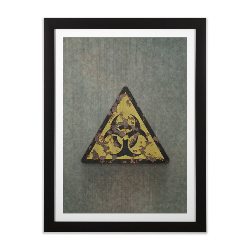 Biohazard Home Framed Fine Art Print by Pig's Ear Gear on Threadless
