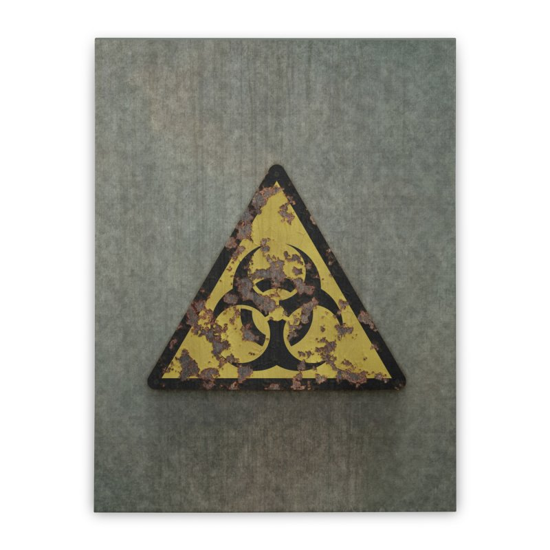 Biohazard Home Stretched Canvas by Pig's Ear Gear on Threadless
