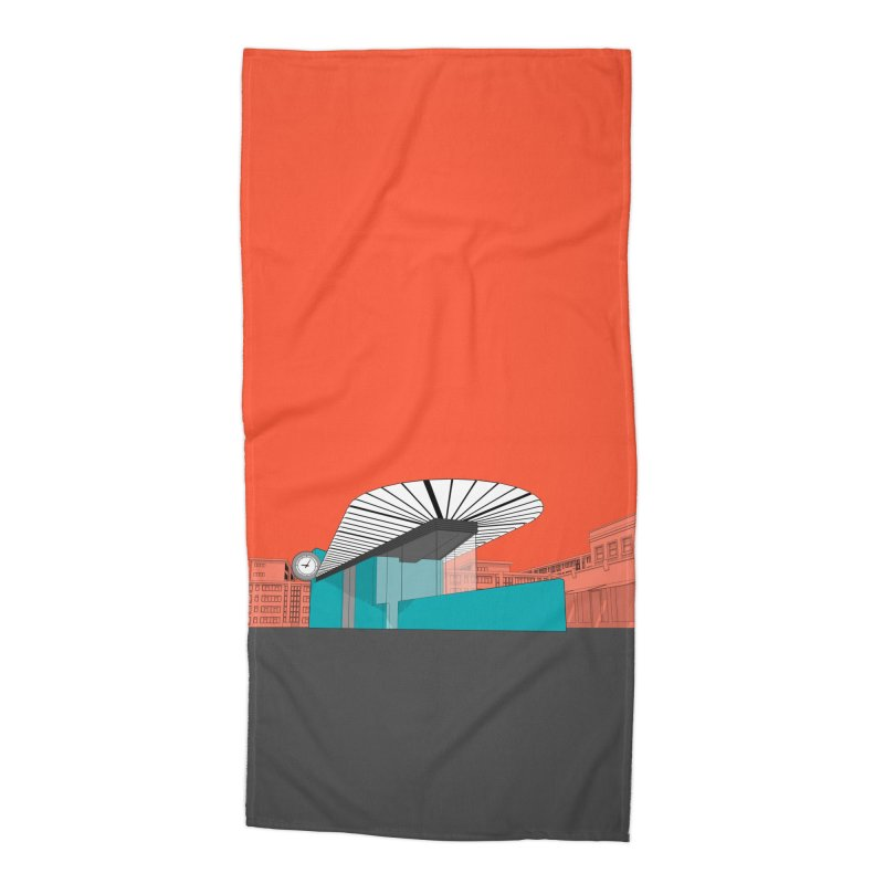 Turquoise Island Accessories Beach Towel by Pig's Ear Gear on Threadless