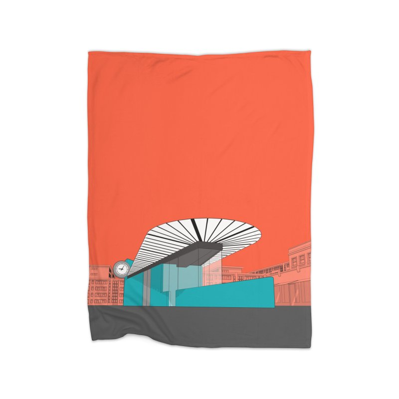 Turquoise Island Home Fleece Blanket Blanket by Pig's Ear Gear on Threadless
