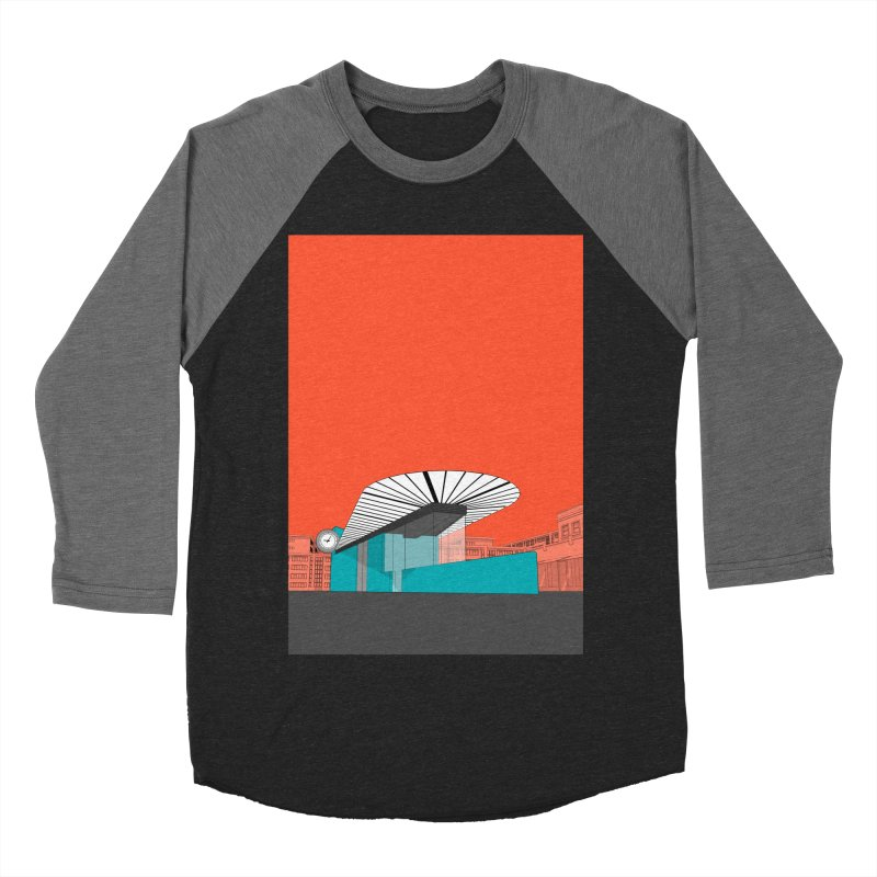 Turquoise Island Women's Baseball Triblend Longsleeve T-Shirt by Pig's Ear Gear on Threadless