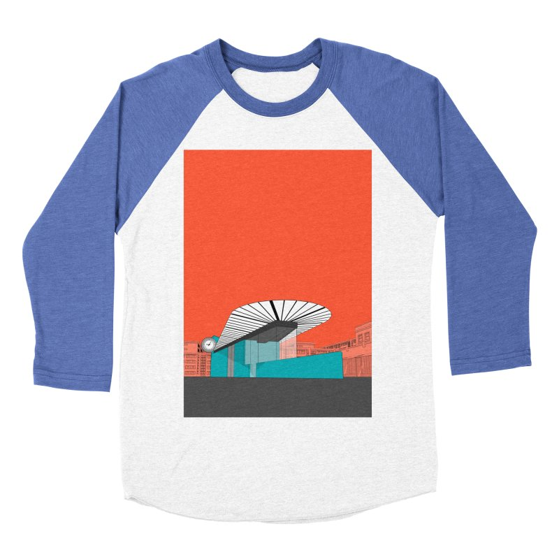 Turquoise Island Men's Baseball Triblend Longsleeve T-Shirt by Pig's Ear Gear on Threadless