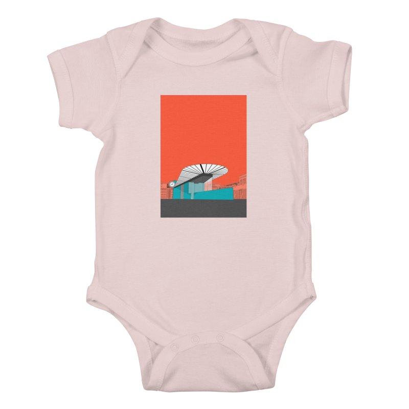 Turquoise Island Kids Baby Bodysuit by Pig's Ear Gear on Threadless