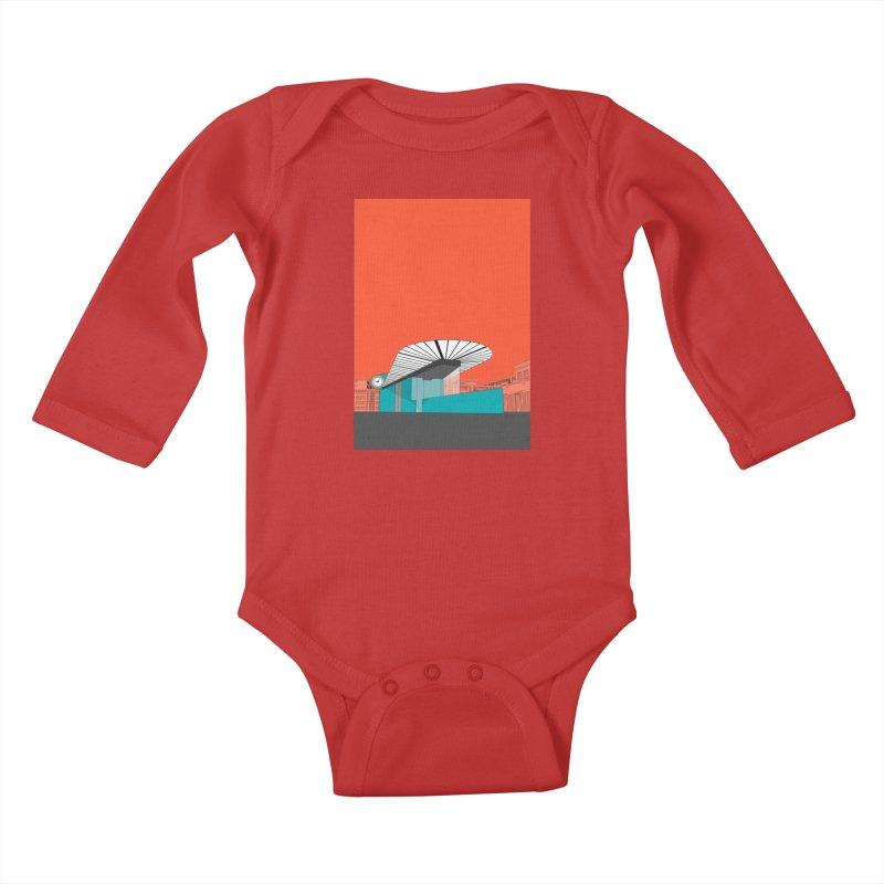 Turquoise Island Kids Baby Longsleeve Bodysuit by Pig's Ear Gear on Threadless