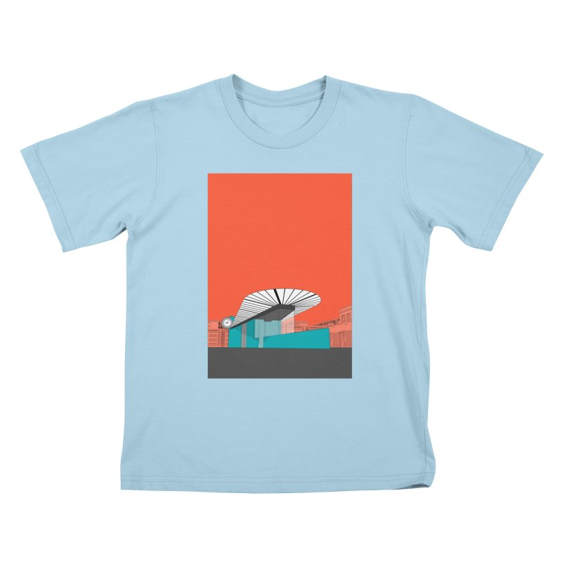 Turquoise Island Kids T-Shirt by Pig's Ear Gear on Threadless