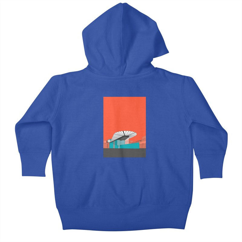 Turquoise Island Kids Baby Zip-Up Hoody by Pig's Ear Gear on Threadless