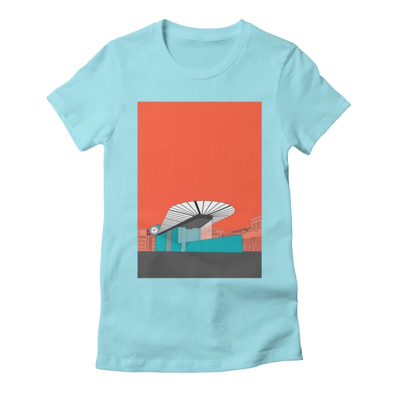 Turquoise Island Women's Fitted T-Shirt by Pig's Ear Gear on Threadless