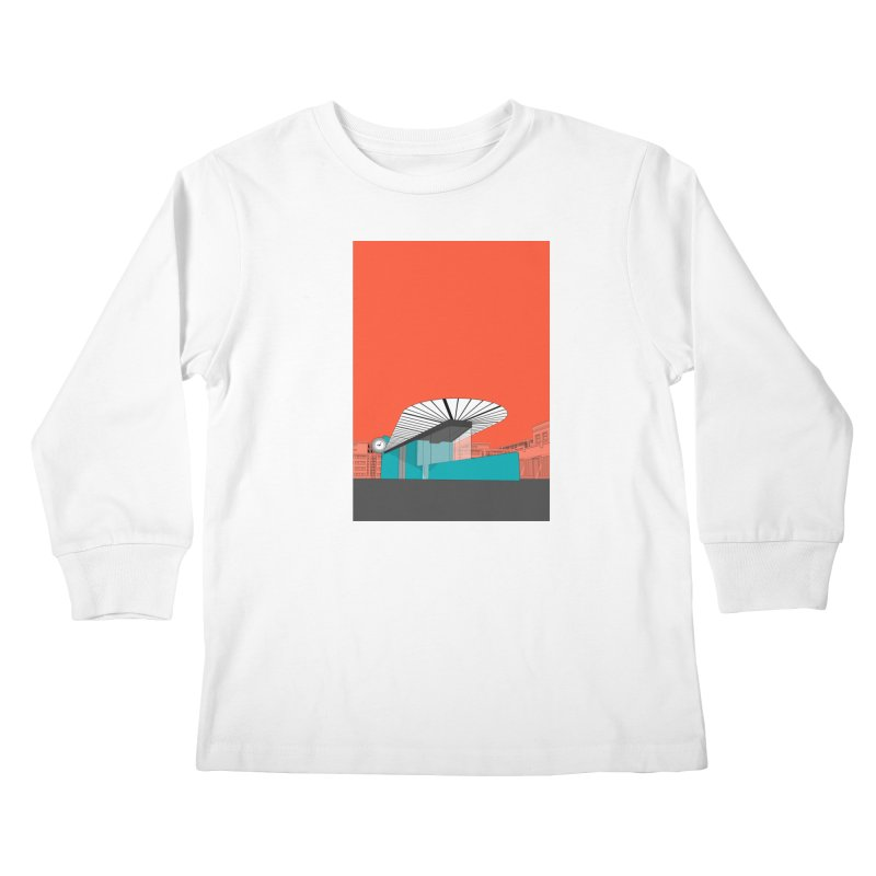 Turquoise Island Kids Longsleeve T-Shirt by Pig's Ear Gear on Threadless