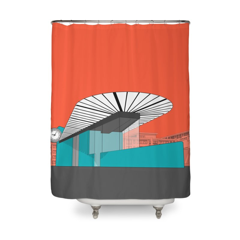 Turquoise Island Home Shower Curtain by Pig's Ear Gear on Threadless