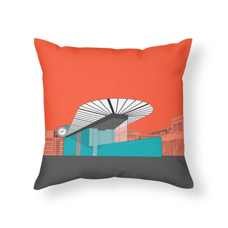 Turquoise Island Home Throw Pillow by Pig's Ear Gear on Threadless