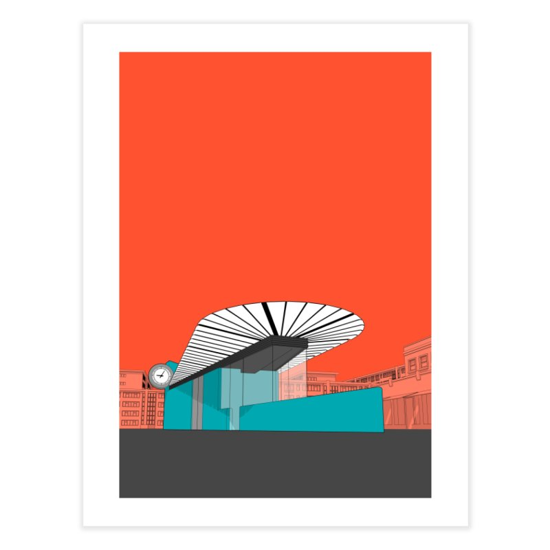 Turquoise Island Home Fine Art Print by Pig's Ear Gear on Threadless