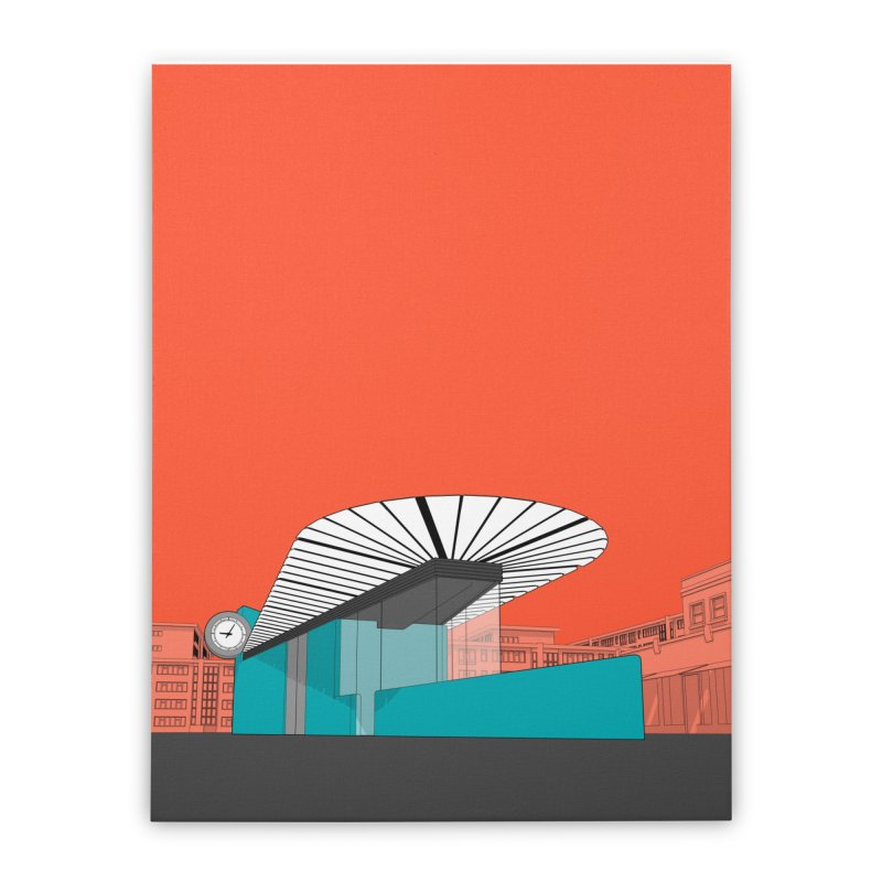 Turquoise Island Home Stretched Canvas by Pig's Ear Gear on Threadless
