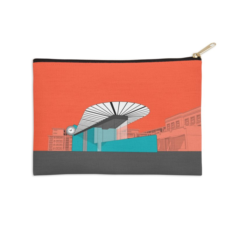 Turquoise Island Accessories Zip Pouch by Pig's Ear Gear on Threadless