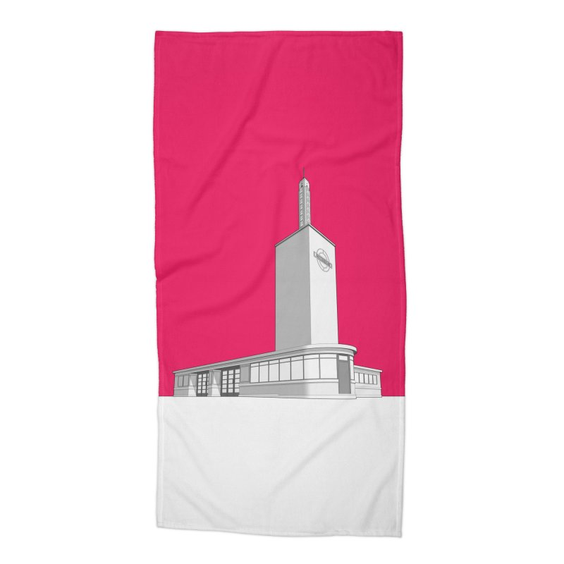 Osterley Station Accessories Beach Towel by Pig's Ear Gear on Threadless